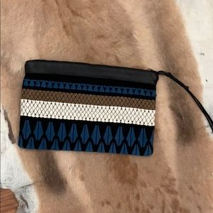 Beautiful stitched embroidered boho clutch